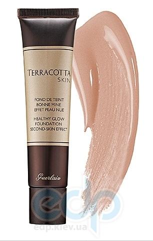 Тональный крем бронзирующий с эффектом бархата Guerlain -  Terracotta Skin Healthy Glow Foundation № 01 blondes