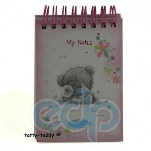 Teddy MTY (мишки) Блокнот MTY (Me To You) -  маленький на спирали (розовый) (арт. G01S0294)