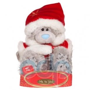 Teddy MTY (мишки) Игрушка плюшевый медвежонок MTY (Me To You) -  в костюме Деда Мороза 15 см (арт. G01W0178)