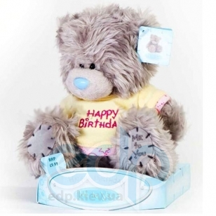 Teddy MTY (мишки) Игрушка плюшевый мишка MTY (Me To You) -  в футболке Happy Birthday 15 см (арт. 01W0256)
