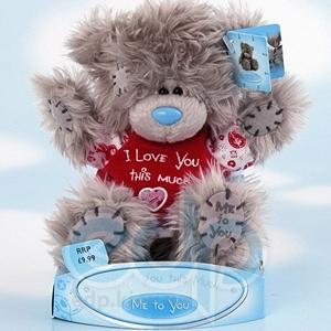 Teddy MTY (мишки) Игрушка плюшевый мишка MTY (Me To You) -  в футболке I Love You this Much 15 см (арт. G01W0648)