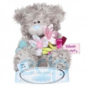Teddy MTY (мишки) Игрушка плюшевый мишка MTY (Me To You) -  с букетом цветов Friends Always 15 см (арт. G01W0777)