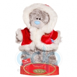 Teddy MTY (мишки) Игрушка плюшевый медвежонок MTY (Me To You) -  в костюме Деда Мороза 15 см (арт. G01W1250)
