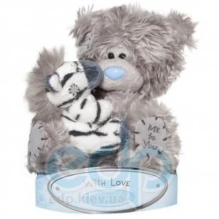 Teddy MTY (мишки) Игрушка плюшевая MTY (Me To You) -  медвежонок с зеброй на руках 15 см (арт. G01W1506)
