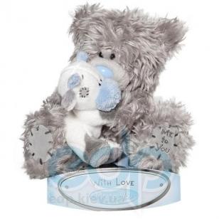 Teddy MTY (мишки) Игрушка плюшевая MTY (Me To You) -  медвежонок с коровой на руках 15 см (арт. G01W1507)