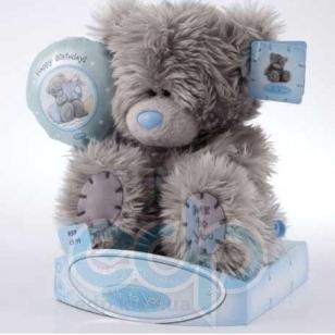 Teddy MTY (мишки) Игрушка плюшевый мишка MTY (Me To You) -  держащий шарик Happy Birthday 15 см (арт. GYW1301)
