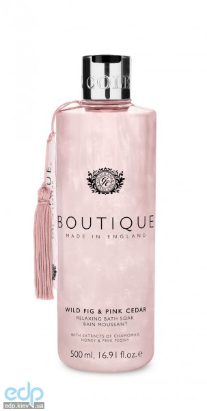 Grace Cole - Пена для ванны Boutique Relaxing Bath Soak Wild Fig & Pink Cedar - 500 ml