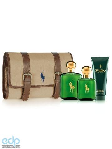 Ralph Lauren Polo Green - Набор (туалетная вода 118 ml + туалетная вода 59ml + после бритья 100ml + сумка)