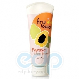 LG Household & Heal - Пенка-скраб для умывания с экстрактом папайи Frutopia Papaya Facial Foam - 150 ml