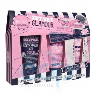 Grace Cole - Набор подарочный Jet Set Glamour (гель для душа 100 ml + лосьон для тела 100 ml + блеск для губ 15 ml)