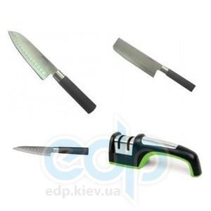 Универсальный набор ножей (3 шт) на все случаи жизни + точилка MAESTRO - в подарок!
