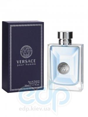 Versace pour Homme 2008 -  Набор (mini 5 ml + гель для душа 25 + бальзам после бритья 25)