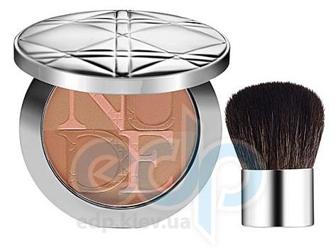 Christian Dior - Пудра для лица компактная с эффектом естественного сияния Diorskin Nude Tan Healthy Glow Enhancing Powder 001 - 10 g