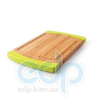 Berghoff -  Разделочная доска профессиональная 40х28 см (бамбук. ручки -  силикон) (арт.1101637)