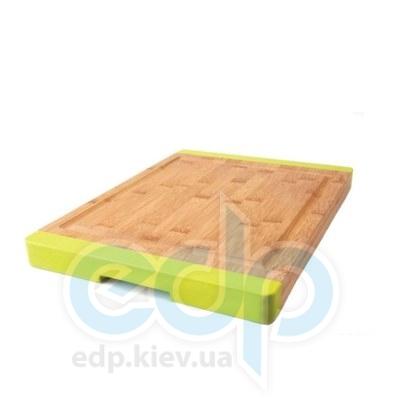 Berghoff -  Разделочная доска профессиональная 38х28 см (бамбук. ручки -  силикон) (арт.1101712)