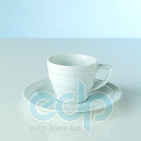 Berghoff -  Чашка для кофе с блюдцем фарфоровая маленькая Hotel -  100 мл (арт. 1690193)