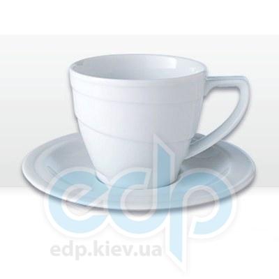Berghoff -  Фарфоровая чашка для завтраков с блюдцем -  385 мл (арт. 1690209)