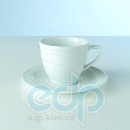 Berghoff -  Чашка средняя с блюдцем фарфоровая Hotel -  200 мл (арт. 1690216)