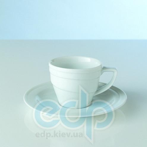 Berghoff -  Кофейная кружка с блюдцем фарфоровая Hotel -  200 мл (арт. 1690346)