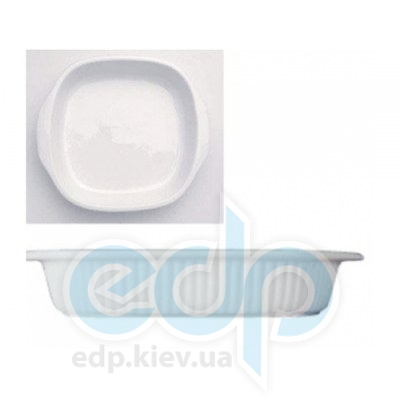 Berghoff -  Квадратная плоская фарфоровая форма для выпечки Bianco -  29х26х5 см (арт. 1691121)