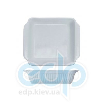 Berghoff -  Квадратная плоская фарфоровая форма для выпечки Bianco -  34х31х6 см (арт. 1691138)