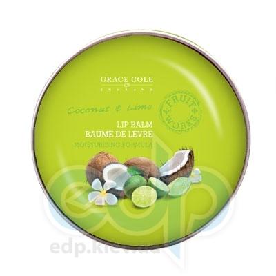 Grace Cole - Бальзам для губ питательный, увлажняющий Lip Balm Coconut & Lime - 12 g