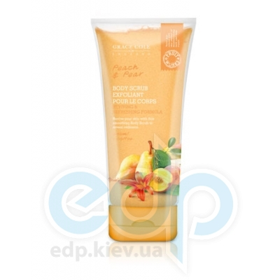 Grace Cole - Скраб для тела отшелушивающий, освежающий Body Scrub Peach & Pear - 238 ml