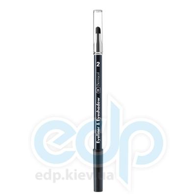 Dermacol Карандаш для глаз Eyeliner Eyeshadow с аппликатором № 02 (серый) - 1.6 gr (5393)