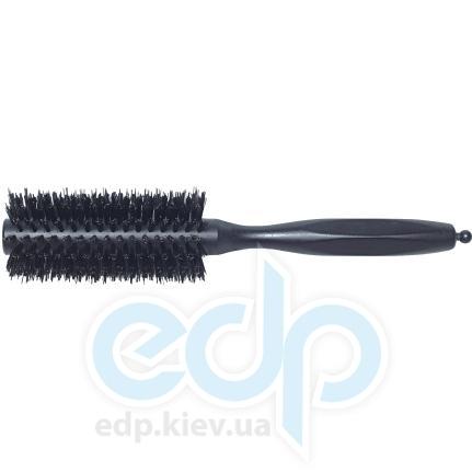3ME Maestri - 3ME 3220 Расческа с резиновой ручкой професиональный нейлон с термовыдержкой черная Soft Touch