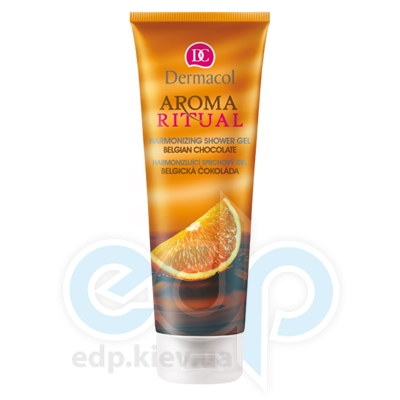 Dermacol Body Aroma Ritual Гель для душа гармонизирующее Бельгийский шоколад Harmonizing Shower Gel - 250 ml (16911)