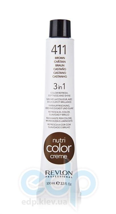 Тонирующий бальзам Revlon Professional - Nutri Color Creme №411 Cold Brown/Холодный Шатен - 100 ml