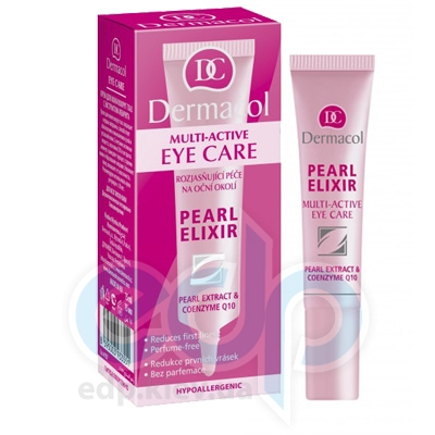 Dermacol Pearl Elixir крем для век для сияющей кожи с экстрактом жемчуга Multi-Active - 15 ml (15425)