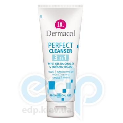Dermacol Perfect Base Гель для умывания 3в1 для молодой кожи с экстрактом морского шелка - 100 ml (15675)