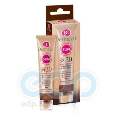 Dermacol Sun Cream Крем для загара для лица SPF 30 з бальзамом для губ SPF 30 - 33.2 ml (5378)