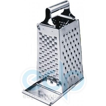 Vinzer (посуда) Vinzer -  Терка - нержавеющая сталь, поддон, 4 в 1: нарезка, шинкование, гарнировка, измельчение (арт. 69253)