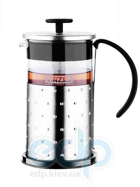 Vinzer - Кофейник / Заварник для чая - стекло Thermix, нержавеющая сталь, 1000 мл (арт. 89382)