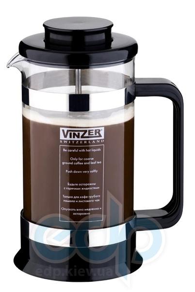 Vinzer (посуда) Vinzer -  Кофейник / Заварник для чая - стекло Thermix, пластм, ложка, 1000 мл (арт. 69396)