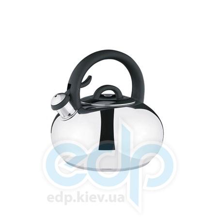Vinzer (посуда) Vinzer -  Чайник MELОDY - нержавеющая сталь, 3,5 л, свисток (арт. 89002)