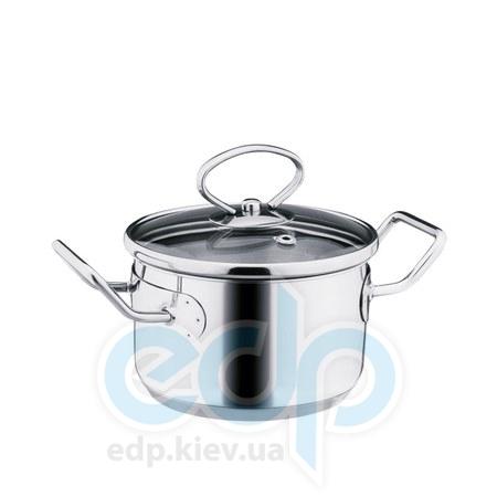 Vinzer (посуда) Vinzer -  Кастрюля с крышкой Mini, диаметр по крышке 12см, 0,8л (арт. 89086)