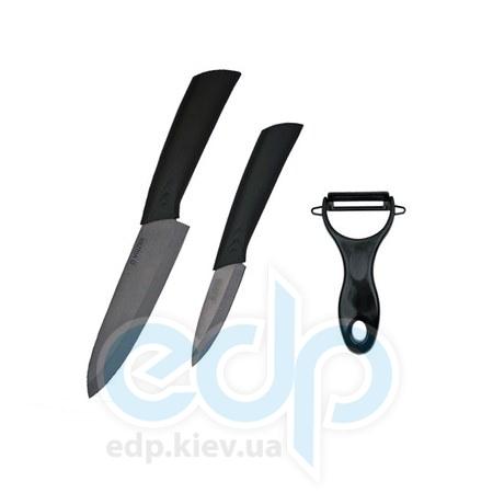 Vinzer (посуда) Vinzer -  Набор керамических ножей Black blade - 3 предметf  (арт. 89132)