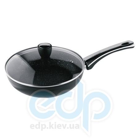 Vinzer (посуда) Vinzer -  Сковорода с керамическим покрытием Granite Induction line с крышкой - диаметр 26см.  (арт. 89435)