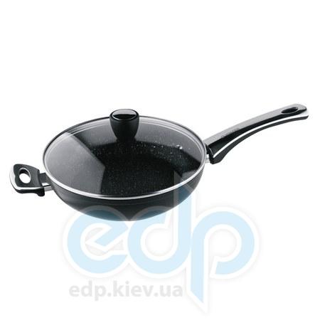 Vinzer (посуда) Vinzer -  Сковорода с керамическим покрытием Granite Induction line с крышкой - диаметр 28см.  (арт. 89436)