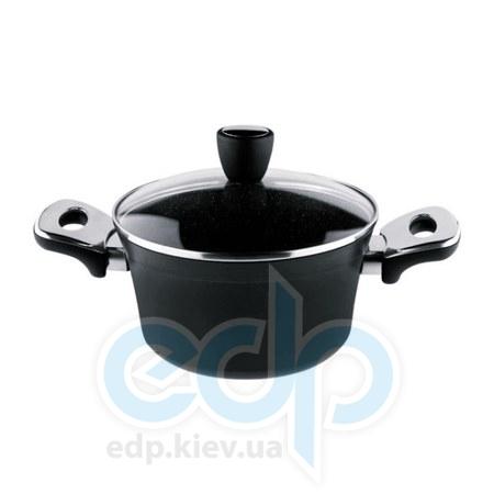 Vinzer (посуда) Vinzer -  Кастрюля с крышкой с керамическим покрыимес Granite Induction Line - объем 2,8л .Диаметр  20 см (арт. 89439)