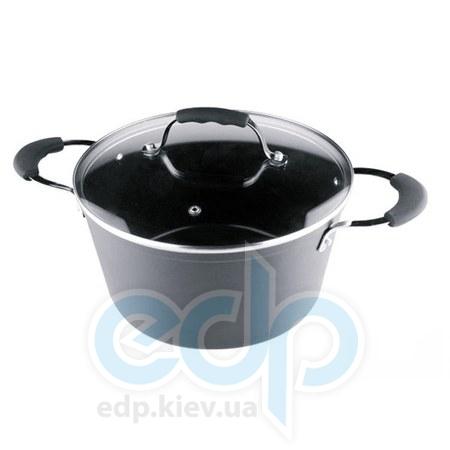 Vinzer (посуда) Vinzer -  Кастрюля с крышкой с керамическим покрытием Eco Style - объем 4,6л .Диаметр  24 см (арт. 89479)