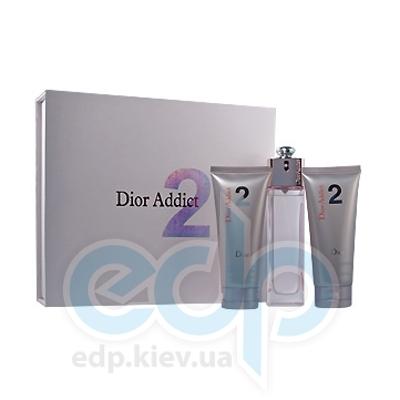 Christian Dior Addict 2 -  Набор (туалетная вода mini 5 ml + лосьон-молочко для тела 20 + гель для душа 20)