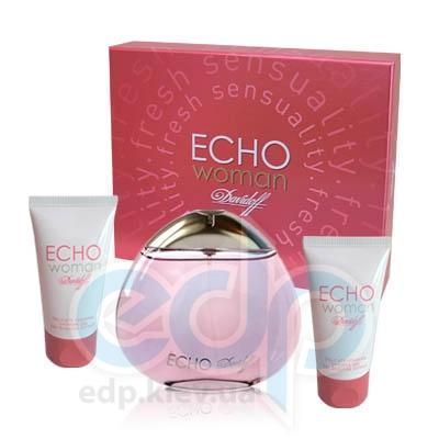Davidoff Echo woman -  Набор (парфюмированная вода 50 + гель для душа 50 + крем для тела 50)