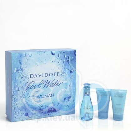 Davidoff Cool Water woman -  Набор (туалетная вода 30 + гель для душа 50 + лосьон-молочко для тела 50)