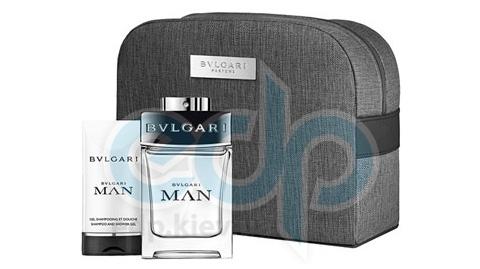 Bvlgari Man -  Набор (туалетная вода 100 + гель для душа 75 + косметичка)