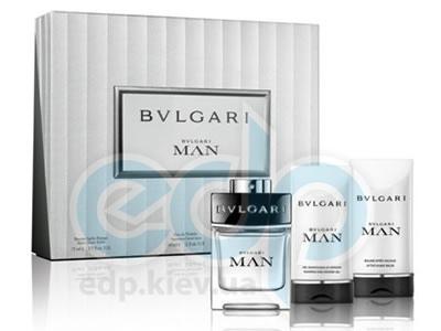 Bvlgari Man -  Набор (туалетная вода 60 + гель для душа 75 + бальзам после бритья 75)