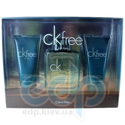 Calvin Klein CK Free Men -  Набор (туалетная вода 100 + бальзам после бритья 100 + гель для душа 100)